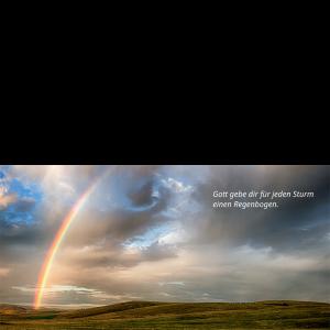 Postkarte Segen Regenbogen